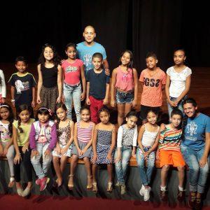 Los niños de la Biblioteca Gabriel García Márquez